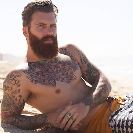 soin barbe vacances été plage mer piscine