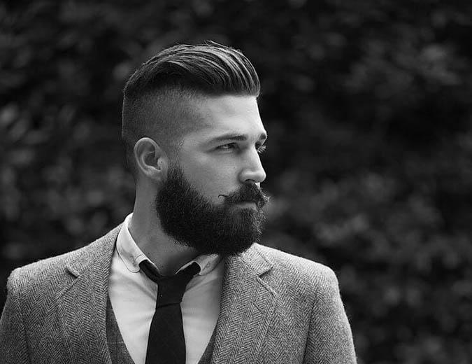 Undercut coupe homme cheveux vintage